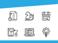 Business - line design style icons