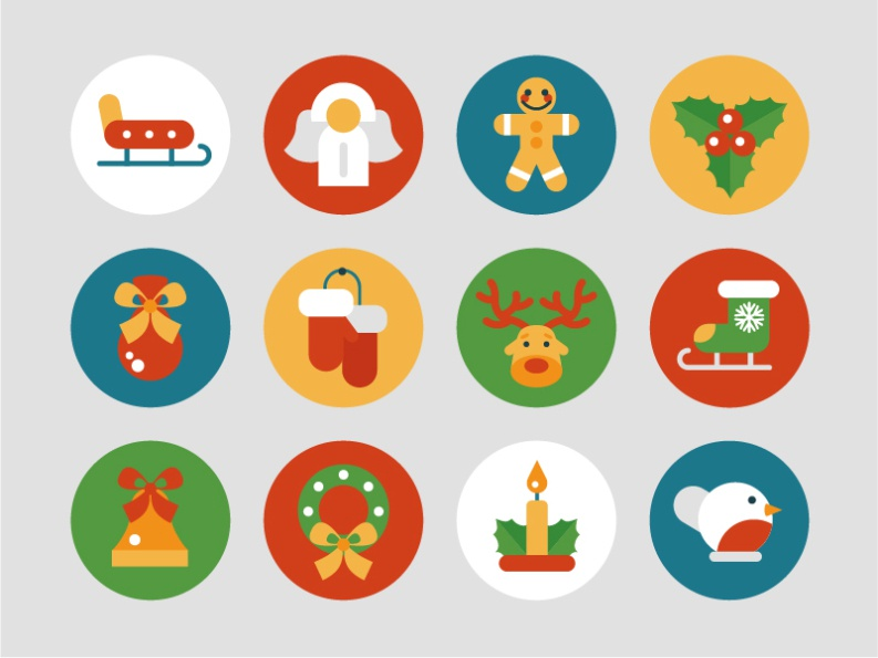 Christmas set dribbble 2