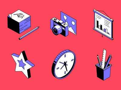 Office isometric icons isometric icons isometry icon business vector flat design style design illustration