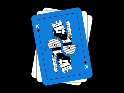 King card illusration dribbbleweeklywarmup spades king face card game card play composition character flat design style design illustration