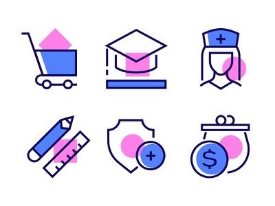 Linear Icons health education collection linear icons linear line icon vector style design