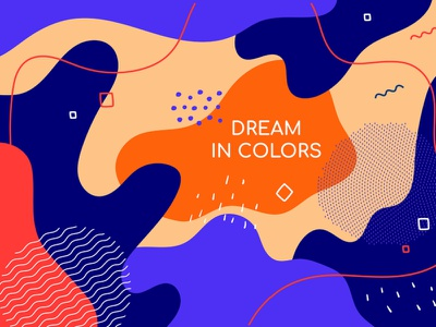 Abstract background splash template memphis abstract composition flat design design style illustration