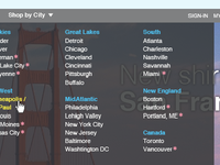Multi-city Dropdown