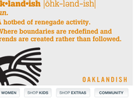 Custom Facebook landing page for Oaklandish