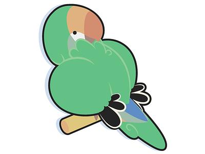 Lovebird Doodle lovebird bird cute illustration illustrator flat simple cartoon perch