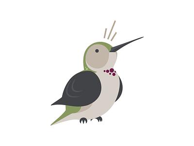 Hummingbird simple hummingbird annas illustrator cartoon flat bird surprise cute