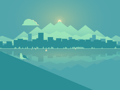Portfolio - Header Illustration vector art sketch web design graphic design vancouver adobe illustrator illustration