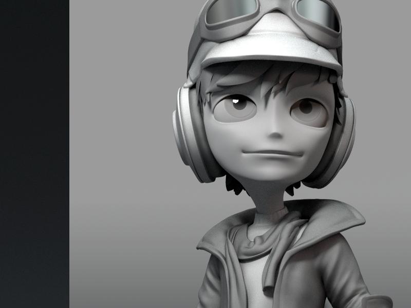 Blender Character Modeling Course : Pilot character model by jonathan williamson dribbble