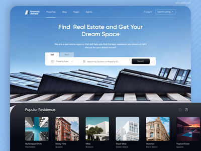 Real Estate Landing Page search page house search apartment search home search property search concept contrast flat design landing page search real estate ui