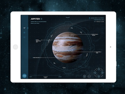 1303™ // Interactive Telescope HUD  1030 uiux userinterface ipad app telescope space nasa lcad astronomy product stars