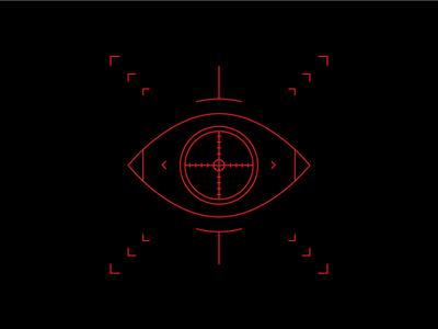 T A R G E T I N G . . . crosshair target eye cyberpunk