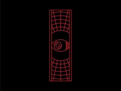 W A T C H I N G . . . line art future watching cyberpunk