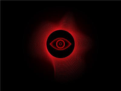 S H A D O W I N G . . . nasa. cyberpunk eye line art future moon sun eclipse