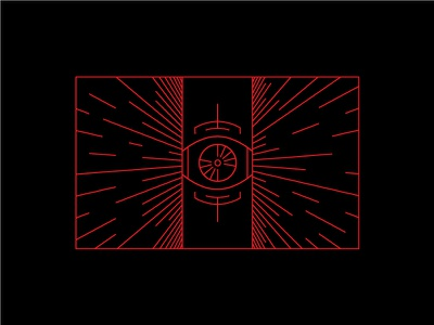 I N C O M I N G . . . future line art red cyberspace hyperspace eye incoming