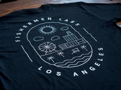 Fishermen Labs Tee 🌴 ☀️ ⛱ summer sun beach la santa monica graphic design los angeles shirt tee