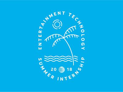 AT&T ET Summer Internship Badge california la los angeles beach sun palm tree summer tee shirt badge att tshirt hoodie