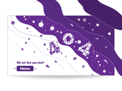 404 Page for The Ocean page not found 404 landing page ux graphic design