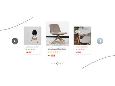 Item Carousel dribbble design page product design illustration landing page ui web design
