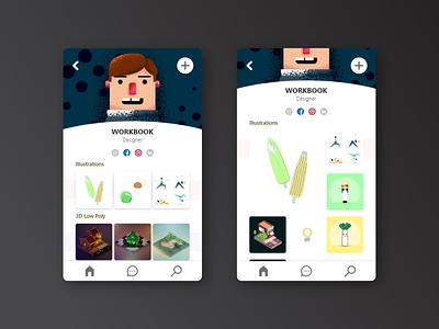 User Profile web design application app mobile dailyui landing page design page dribbble ux ui