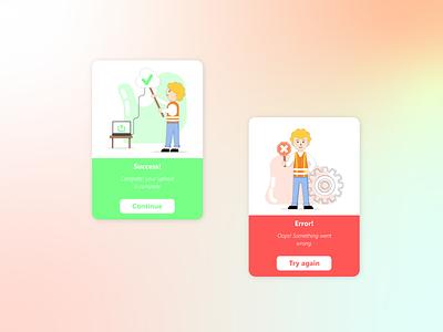 Flash Message 011 dailyui illustration graphic design ux ui dribbble design page mobile