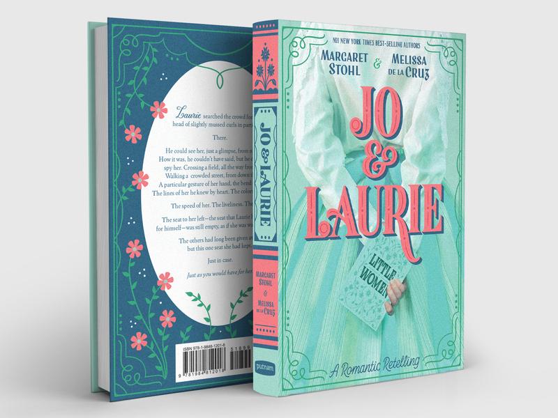 Jo & Laurie Book Jacket Design & Lettering book cover design little women vintage floral storybook vintage typography cover design book jacket book cover lettering