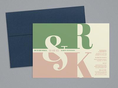 Wedding Invitations blue note ampersand typography invitations wedding invitations wedding