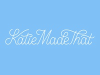 Katie Made That Logo