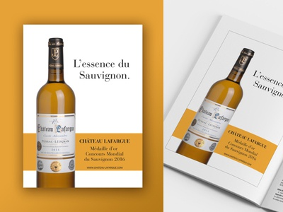 Ad for Château Lafargue in a wine magazine