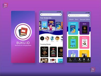 Buku.id learning design ui illustration graphic design branding apps
