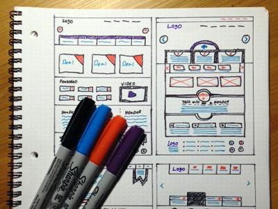 Colorframes wireframe sketch ui ux websites layout interface dotgrid book wood web