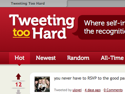 The redesign is live! tth html css3 web twitter tweeting too hard browser