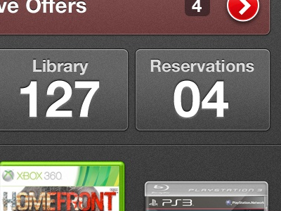 iPhone App Dashboard Concept ios gaming dashboard iphone mobile video games client work red gray