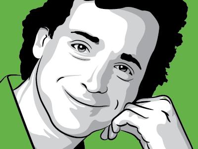 Bob vector illustration green grayscale bob saget danny tanner full house dont ask half baked
