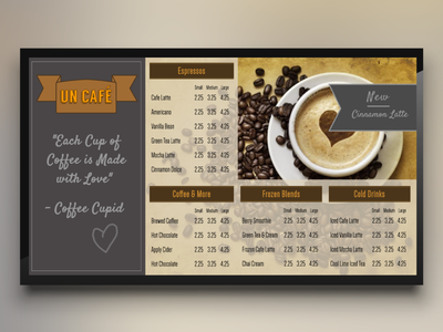 Cafe Theme for Digital Signage