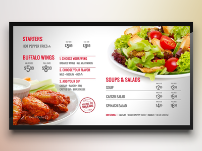 Menuboard Theme for Digital Signage