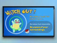 Pokemon Go Template for Digital Signage