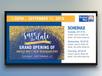 United Way Digital Signage