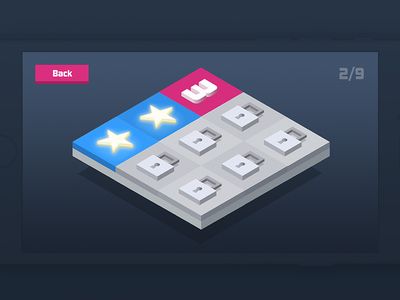 Tiles Puzzle - Game isometric ios fun colorful ui game