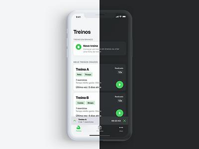 Hercules - Darkmode interface version workout tracker workout app gym app darktheme darkmode