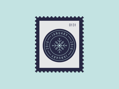 January Badge snow snowflake badge vector icon stamp postage daily postage