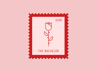 The Bachelor flower rose vector icon design graphic illustration stamp postage daily postage