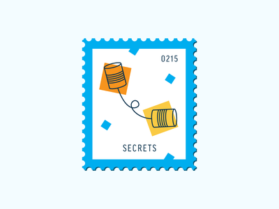 Secrets conversation can telephone vector icon stamp postage daily postage