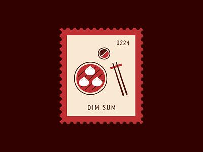 Dim Sum dim sum food vector icon design graphic illustration stamp postage daily postage
