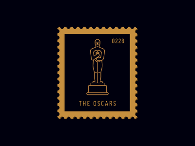 The Oscars illustration academy award line icon movie oscars award vector icon stamp postage daily postage