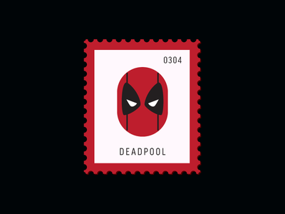 Deadpool comics marvel deadpool vector icon design graphic illustration stamp postage daily postage