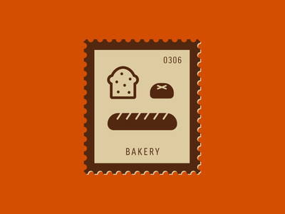 Bakery food toast bread vector icon graphic design illustration stamp postage daily postage