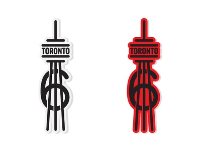 The 6ix illustration vector graphic design tower sticker line illustration building city cn tower drake toronto