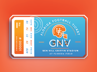 UF Football Ticket