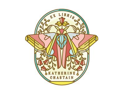 Moth Bookplate