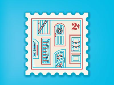 Door Decor Letter Stamp